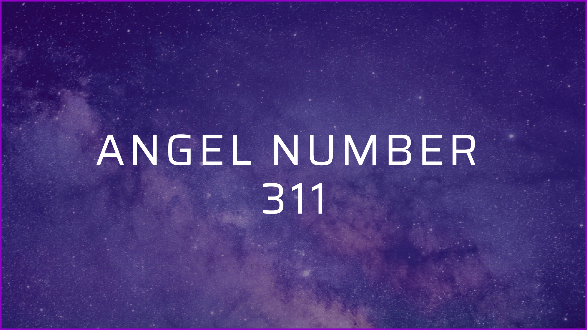 angel number 311