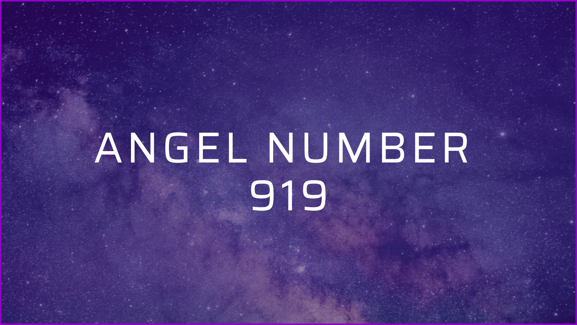 angel number 919